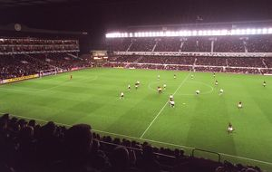 Arsenal Stadium, photographed from the East stand. Arsenal 3:0 Sparta Prague