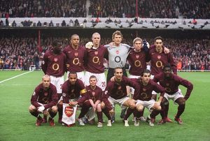 The Arsenal team. Arsenal 1:0 Villarreal