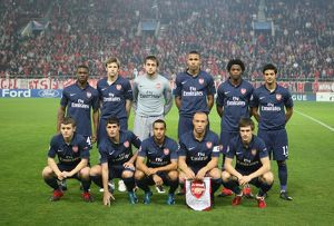 arsenal team olympiacos 10 arsenal uefa champions league