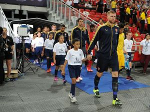 arsenal v singapore xi barclays asia trophy