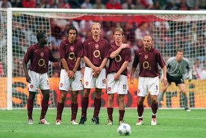arsenal wall l r emmaunel eboue robert pires