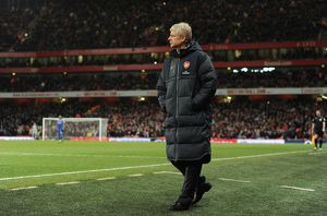 Arsenal Wenger the Arsenal Manager. Arsenal 3:1 Chelsea. Barclays Premier League