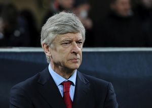 Arsene Wenger the Arsenal Manager. AC Milan 4:0 Arsenal. UEFA Champions League