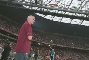 Arsene Wenger the Arsenal Manager. Ajax 0:1 Arsenal