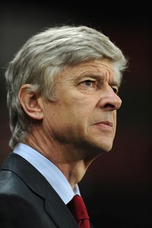 Arsene Wenger the Arsenal Manager. Arsenal 3:1 Chelsea. Barclays Premier League