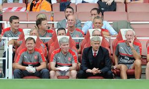 arsene wenger the arsenal manager on the