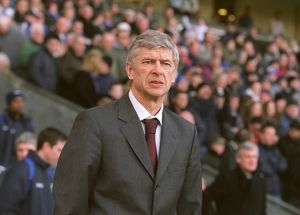 Arsene Wenger the Arsenal Manager. Blackburn Rovers 1:0 Arsenal. FA Premiership