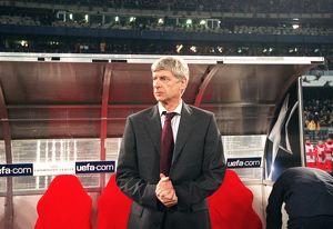 Arsene Wenger the Arsenal Manager before the match. Juventus 0:0 Arsenal