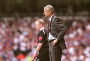 Arsene Wenger the Arsenal Manager. West Ham United 0:0 Arsenal