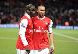 Bacary Sagna and Gael Clichy (Arsenal). Arsenal 3:1 Chelsea. Barclays Premier League