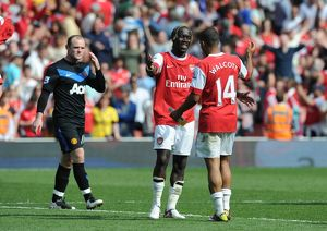 bacary sagna and theo walcott arsenal wayne rooney