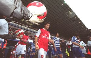 Cesc Fabregas (Arsenal) enters the pitch for the start of the match