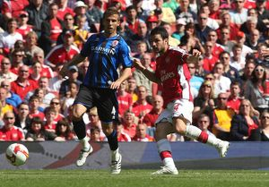 Cesc Fabregas scores his and Arsenal's 2nd goal under