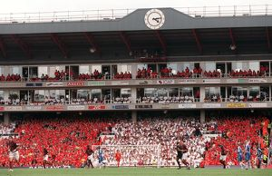The Clock End during the match. Arsenal 4:2 Wigan Athletic