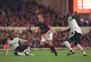 Dennis Bergkamp (Arsenal) Luis Boa Morte and Papa Bouba Dioup (Fulham)