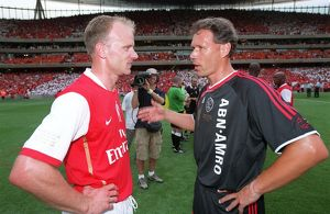 dennis bergkamp arsenal and marco van basten ajax
