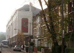East Stand and Avenell Road. Arsenal Stadium, Highbury, London, 22/11/05