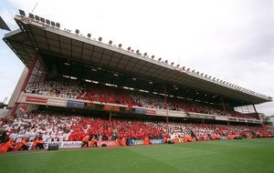 The East Stand after the match. Arsenal 4:2 Wigan Athletic
