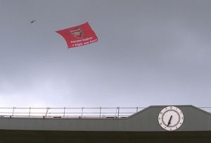 Emirates banner. Arsenal 4:2 Wigan Athletic