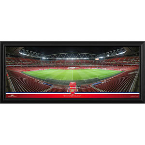 emirates stadium halfway at night framed