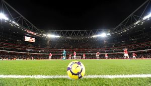 Emirates Stadium before kick off. Arsenal 3:0 Hull City, Barclays Premier league
