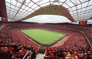 emirates stadium during the match