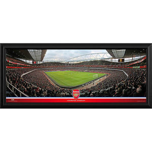 emirates stadium match in action corner framed