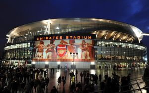 Emirates Stadium after the match. Arsenal 3:0 Wigan Athletic. Barclays Premier League