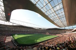 emirates stadium during the match view