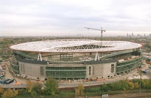 Emirates Stadium photographed from the Harvist Estate