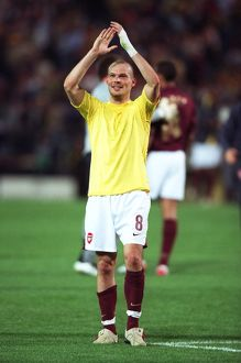 Freddie Ljungberg (Arsenal) celebrates at the end of the match