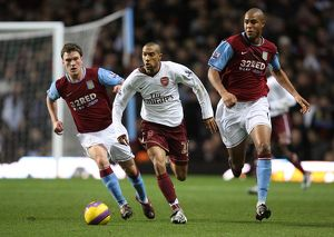 Gael Clichy (Arsenal) Zat Knight and Craig Gardner (Aston Villa)