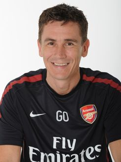 Gary O'Driscoll (Arsenal Doctor). Arsenal 1st Team Photocall and Membersday