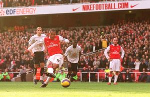 Gilberto scores his 2nd goal Arsenal's 3rd from the penalty spot