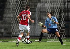 helen lander scores her 1st goal arsenals 5th past