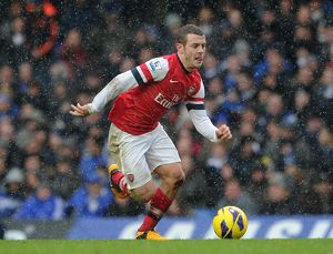 Jack Wilshere (Arsena). Chelsea 2:1 Arsenal. Barclays Premier League. Stamford Bridge, 20/1/13