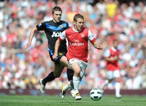 jack wilshere arsenal michael carrick man united arsenal