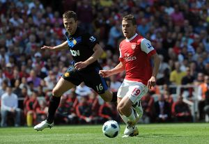 jack wilshere arsenal michael carrick man utd arsenal