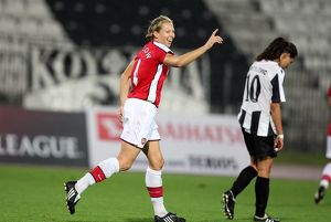 jayne ludlow celebrates scoring arsenals 8th goal