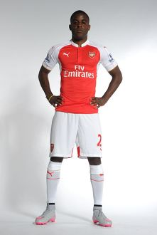Joel Campbell of Arsenal. Arsenal Training Ground, London Colney, Hertfordshire