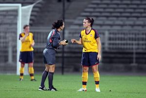 julie fleeting arsenal with the referee