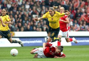 kelly smith arsenal is fouled by maria bertelli