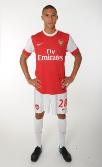 Kieran Gibbs (Arsenal). Arsenal 1st Team Photocall and Membersday. Emirates Stadium