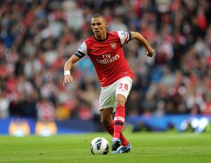 Kieran Gibbs (Arsenal). Manchester City 1:1 Arsenal. Barclays Premier League