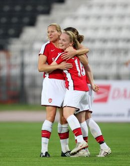 kim little celebrates scoring her 1st goal arsenals
