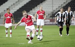 kim little scores her 3td goal arsenals 4th from the