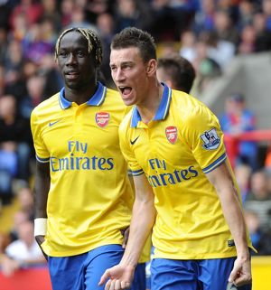 laurent koscielny and bacary sagna celebrate