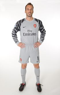 Manuel Almunia (Arsenal). Arsenal 1st Team Photocall and Membersday. Emirates Stadium