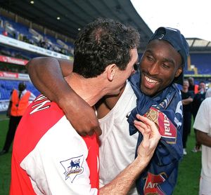 martin keown and sol campbell arsenal celebrate
