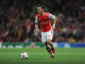 Mesut Ozil (Arsenal). Arsenal 1:0 Besiktas. UEFA Champions League Qualifier 2nd leg